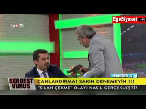 Adnan Aybaba Canlı Yayında Mehmet Baransu'ya Silah Çekti