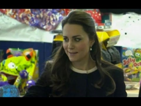 Duchess of Cambridge rolls her eyes when told to 'keep wrapping'