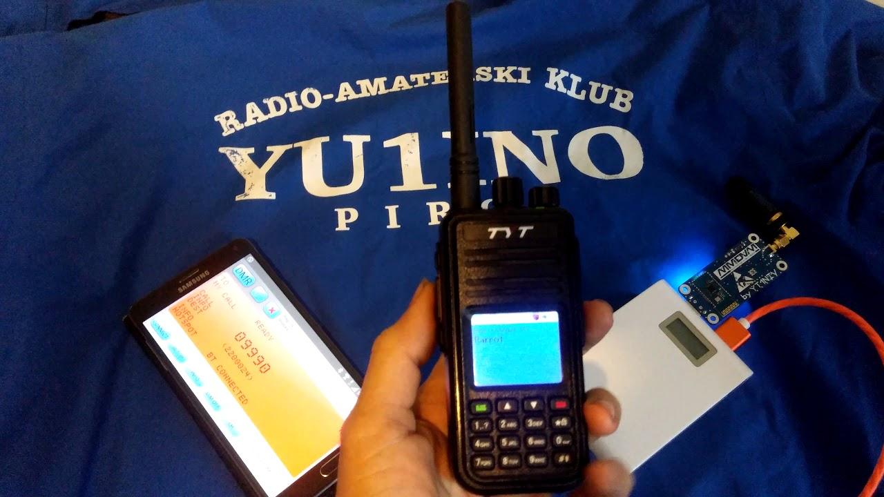 Test mmdvm hotspot blutut modem parot dmr