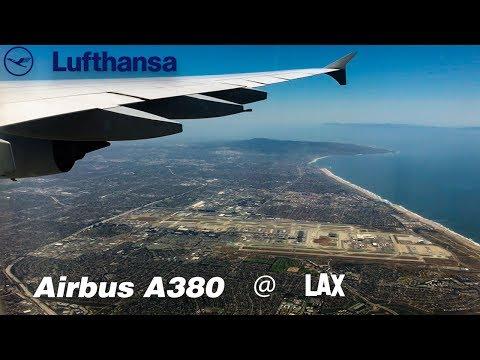 Lufthansa A380 ⎜Landing at Los Angeles International Airport