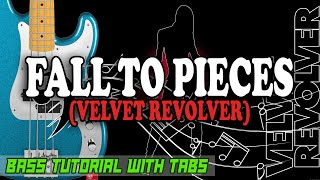 Velvet Revolver - Fall To Pieces - BASS Tutorial [With Tabs] - Play Along