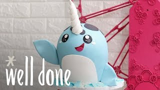 How To Make A Narwhal Cake | Recipe | Well Done