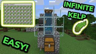 EASY 1.17 ZERO-TICK KËLP FARM TUTORIAL in Minecraft Bedrock (MCPE/Xbox/PS4/Nintendo Switch/PC)