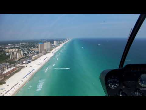 Helicopter ride over Panama City Beach May 2018