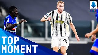 Dejan kulusevski opened the scoring for juventus with a curled effort on his debut after signing from atalanta | serie timthis is official channel ...