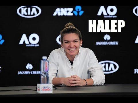 SIMONA HALEP (ROU) 🎾  she's ordering her TENNIS kit online  🎾  2018 Australian OPEN