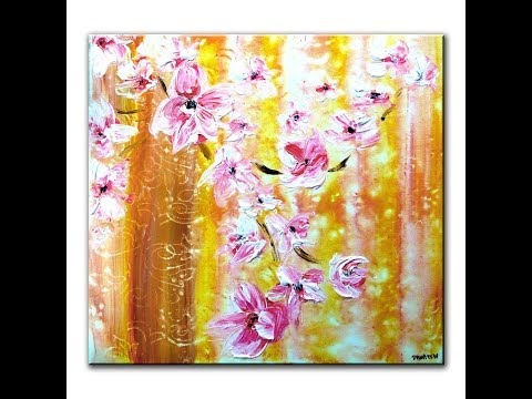 """Abstract Painting - """"Committed to Love"""" - step by step painting tutorial"""