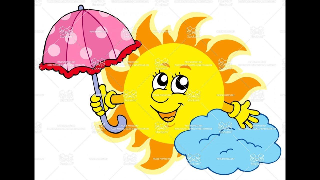 картинки тучка и солнышко для детей