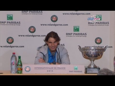 Rafael Nadal Complete Interview after Winning Record 8th Title at Roland Garros 2013