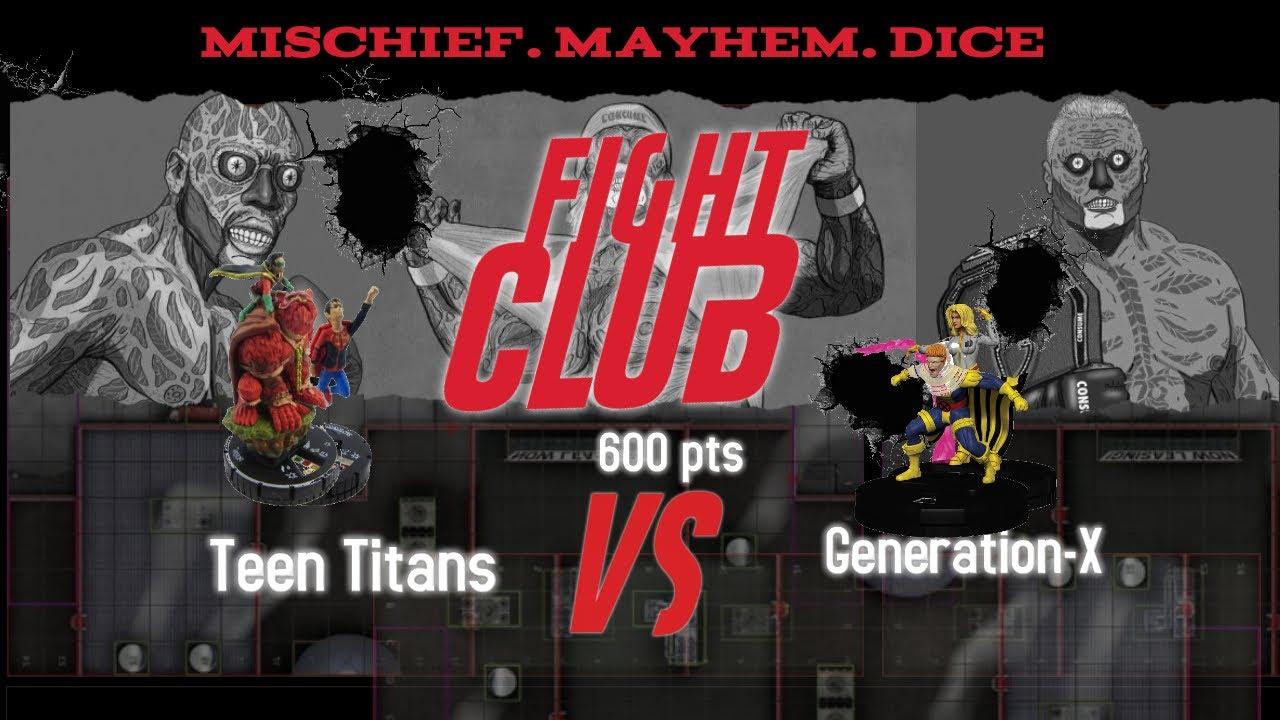 Heroclix Fight Club: Teen On X Teen Action!