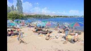Городской пляж в г. Чолпон Ата, Иссык-Куль(, 2014-12-27T13:17:58.000Z)