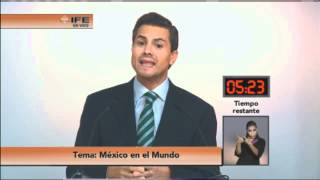 Segundo debate entre la candidata y los candidatos a la Presidencia de la República