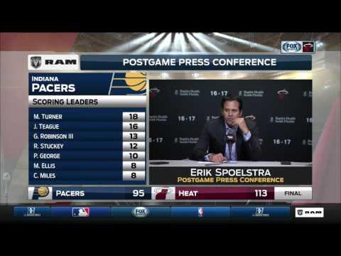 Erik Spoelstra -- Miami Heat vs. Indiana Pacers 02/25/2017