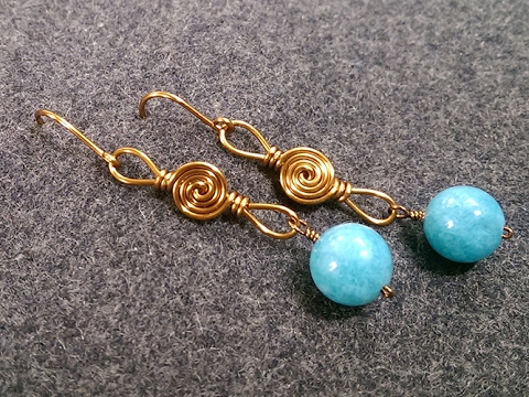Simple Wire Earring How To Make Wire Jewelry 210 Youtube