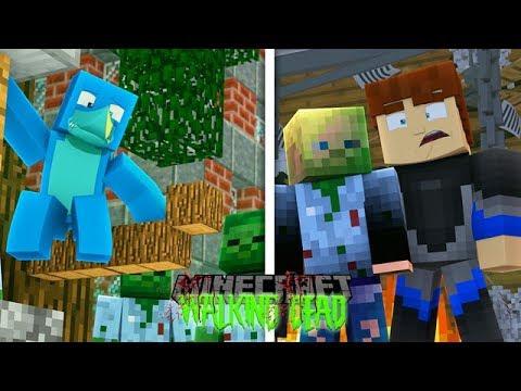 Minecraft THE WALKING DEAD - SHARKY IS GETTING CLOSER TO SCUBA STEVE !!!