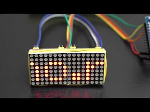 🛠️ Бегущая строка на светодиодной матрице Max7219 и ардуино/arduino, своими руками