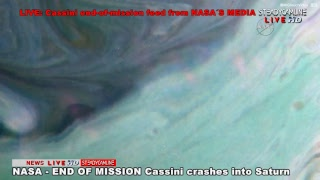 END MISSION Cassini crashes into Saturn, LIVE COVERAGE 09-15-2017