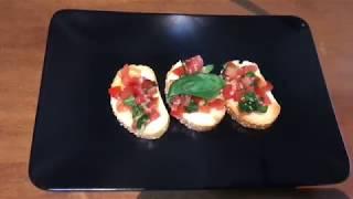 Аль Пачино обожает эту закуску - La Bruschetta. Помидоры, Базилик,Оливковое масло.