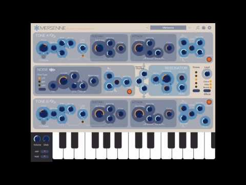 Let's Play Mersenne Melodic Percussion Synthesizer for iPad