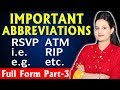 10 Abbreviations i.e., e.g. , etc, RIP, ATM l Full Forms Part 3 l Kitty ki Paheli