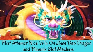 FIRST ATTEMPT NICE WIN ON JINSE DAO DRAGON and PHOENIX SLOT MACHINE - SunFlower Slots