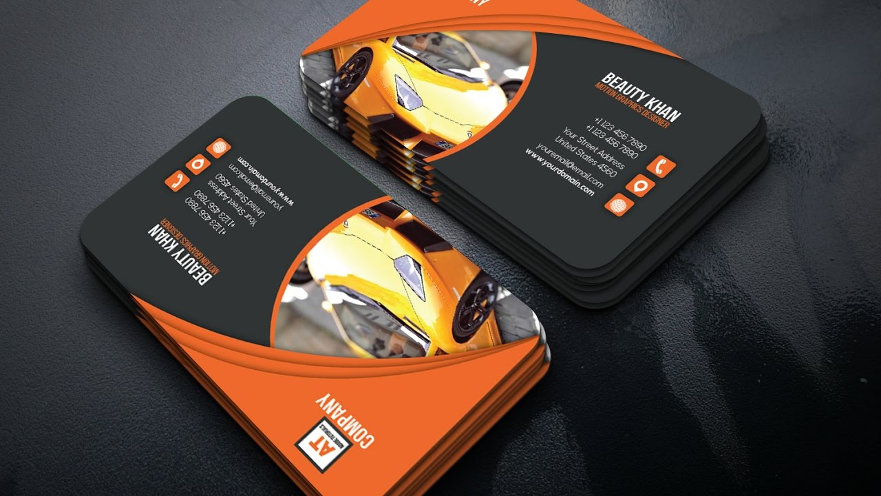 Rent a car business card tutorial adobe illustrator youtube magicingreecefo Gallery