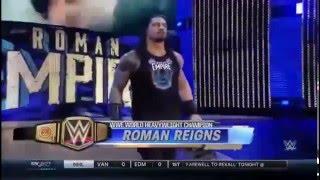 roman reigns entrance 2016 wwe world heavyweight champion
