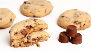 rolo stuffed chocolate chip cookie recipe laura vitale laura in the kitchen episode 911