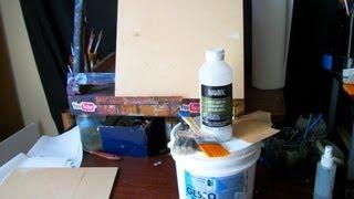 How I Prepare A Wood Panel