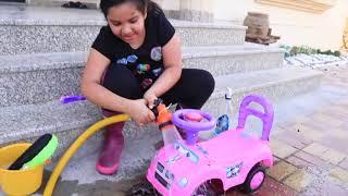 شفا تغسل السيارات !! shfa playing car wash