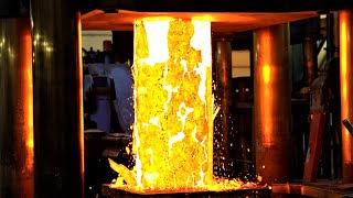 2000 Ton Hydraulic Press Forging 3 Tons of Red Hot Steel | Amazing heavy duty forge video