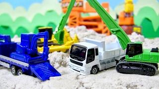 はたらくくるま トミカ 建設車両5 どんなお仕事してるかな?ダンプカー ブルドーザー ショベルカー 重機運搬車 開封紹介⭐️キッズ アニメ おもちゃ