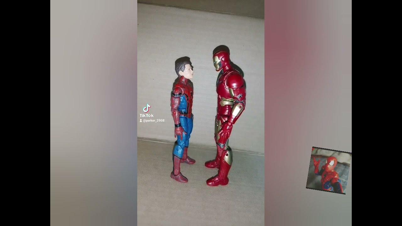 spider man y iron man💚😃