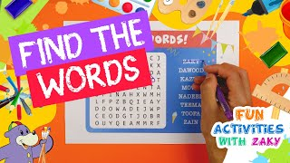 Find The Words - Zaky & Friends