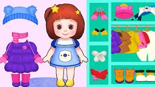 Baby Doli clothes change play and baby doll washing machne play