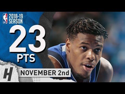 Dennis Smith Jr Full Highlights Mavericks vs Knicks 2018.11.02 - 23 Pts!
