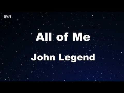 All of Me - John Legend Karaoke 【No Guide Melody】 Instrumental