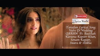Tareefan   Veere Di Wedding (Lyrics Video)