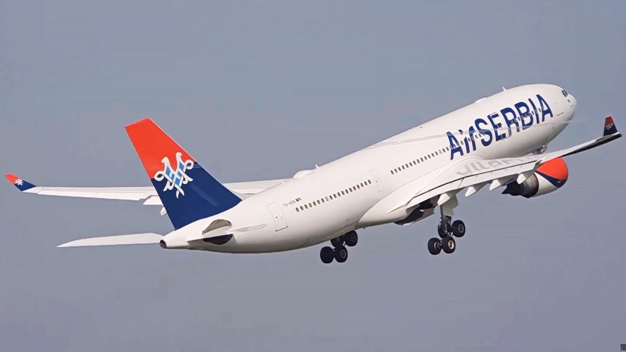Air Serbia Airbus A330 202 Inaugural Flight To New York Jfk Vortex On Takeoff Youtube