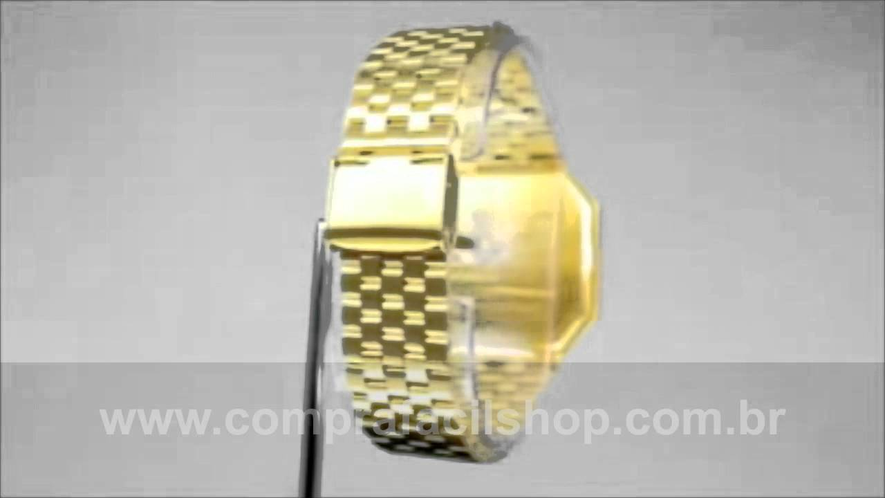 7a854ab5597 Relógios Nixon Re Run Dourado + Face Preta Jóia veja Hoje - YouTube