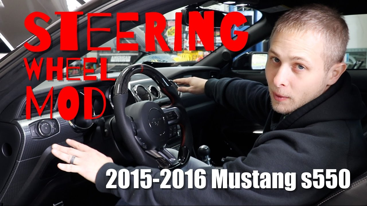2017 Ford Mustang Gt Premium >> 2015 - 2016 Mustang s550 Carbon Fiber Steering Wheel Mod - YouTube