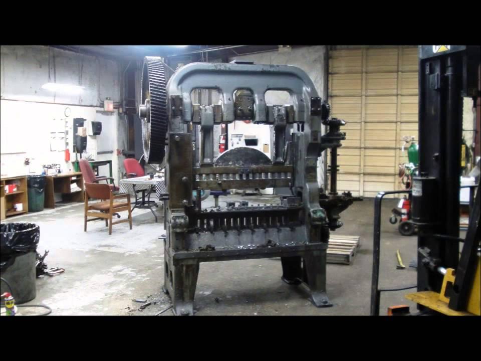 Repair Rebuild Of A Forming Press Bliss Transfer Press