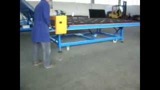 Utilaje termopan: Masa de taiat sticla MANUAL RPM