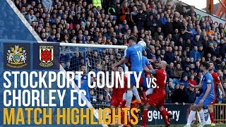 Stockport County Vs Chorley FC - Play-off Quarter Final - Match Highlights - 02.05.2018