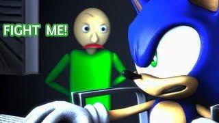 SFM BALDI'S BASICS VS SONIC Animation!