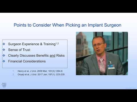 Mayo Clinic Men's Health Minute: Picking a penile implant surgeon