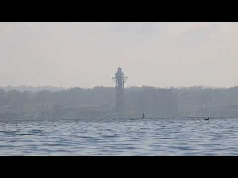 Looking across the bay to Bicentennial Tower  |  Presque Isle State Park