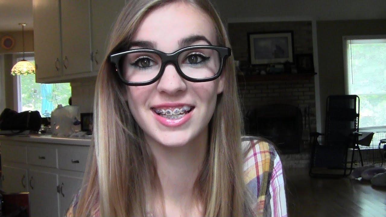 Cute And Sassy Nerd Halloween Makeup Tutorial! - YouTube