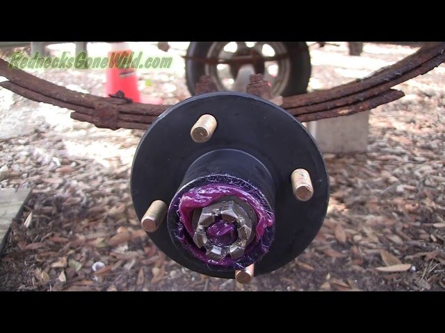 How To Replace Trailer Hub and Bearings