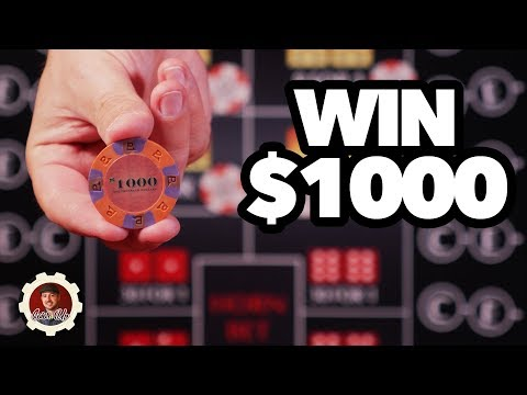 How to win $1000 - craps betting strategy